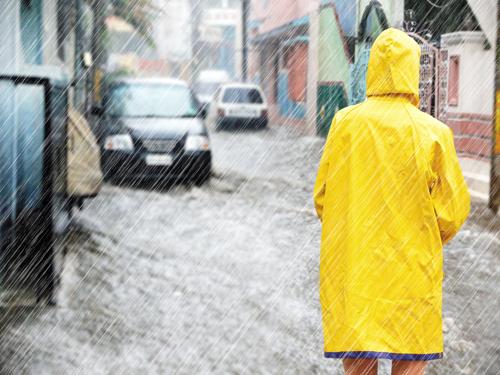 大雨浸水被害のイメージ画像